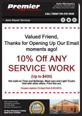 Auto Mechanics Shop Newsletter Templates