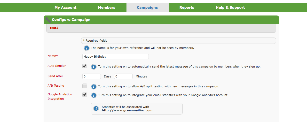 set up an email marketing campaign