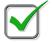 green checkmark graphic
