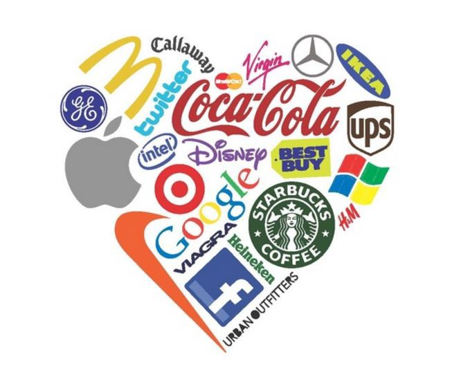 brand loyaty heart logo graphic